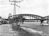 1944. Kopaszi gát, Összekötő vasúti híd. Fortepan/Lissák Tivadar