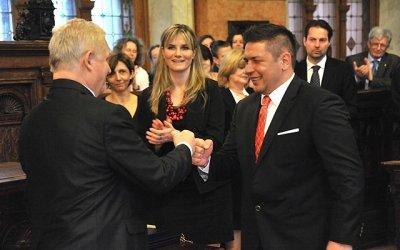 Kótai Mihály világbajnok ökölvívó (Fotó: budapest.hu)