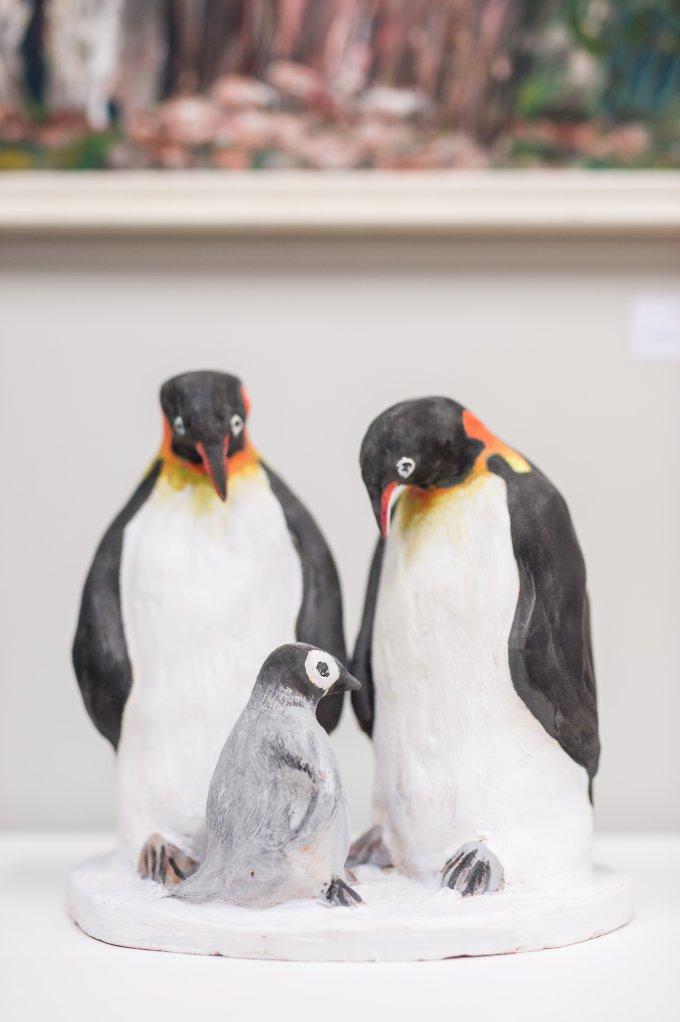 3. díj: Urbánné Kovács Adrienne (a család melege - pingvinek)