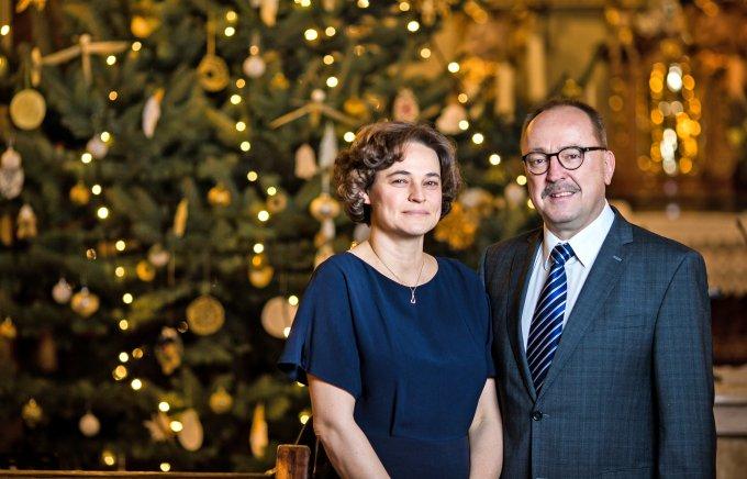 Németh Zsolt és felesége