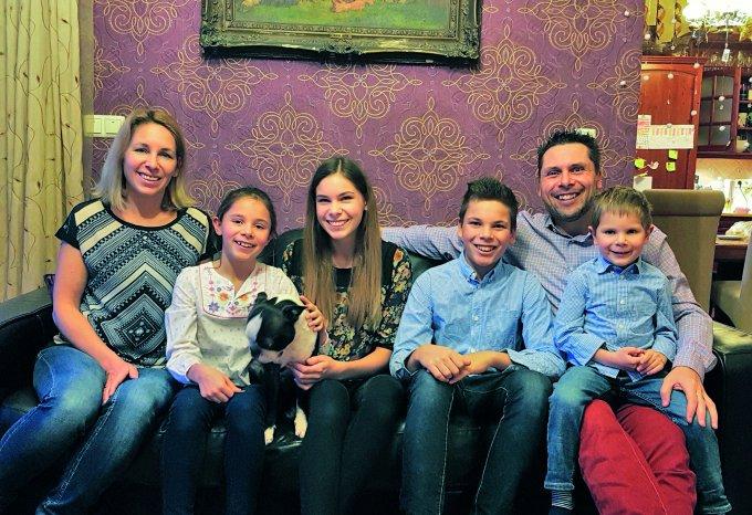 Semsei Rudolf és családja