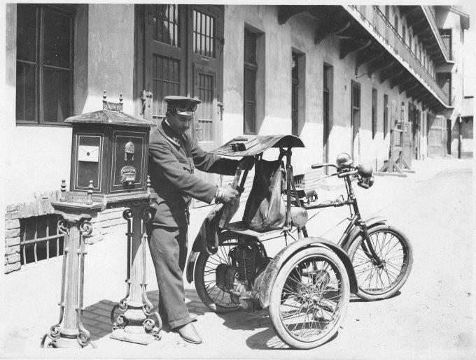 Csonka-féle motoros postatricikli