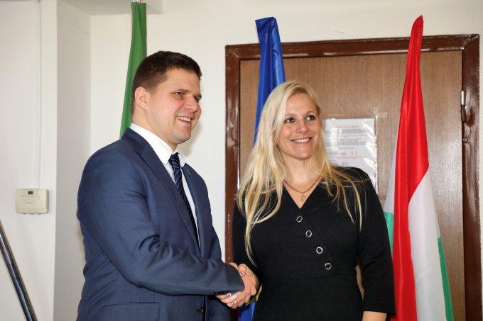 Ján Hrčka polgármester (Petržalka)  és Bakai–Nagy Zita alpolgármester a projekttalálkozón