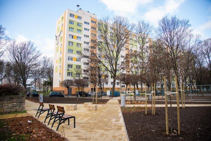 A frissen elkészült Fejér Lipót utcai park