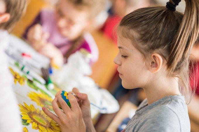 Tojást festettek az iskolások