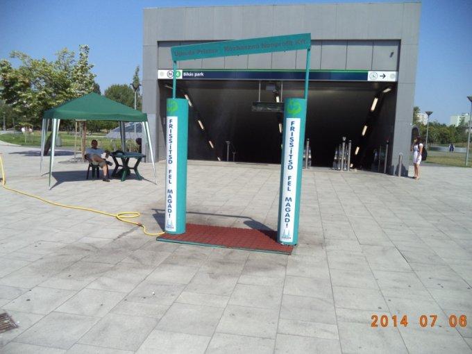Vízosztás Újbudán
