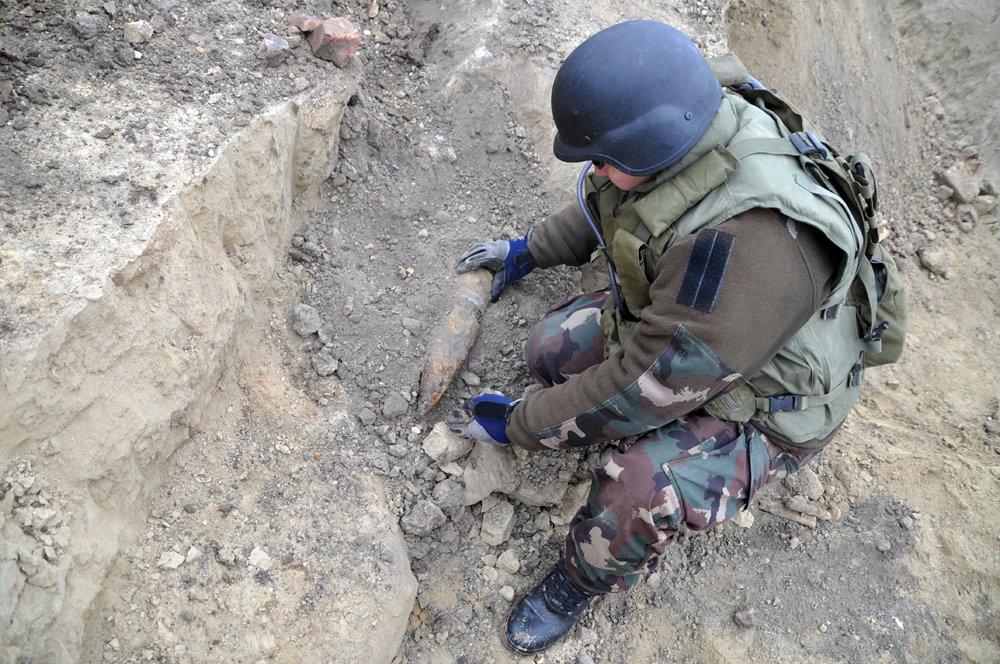 Robbanótestet találtak egy építkezésen