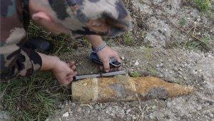 Világháborús gránát a Sas-hegyen