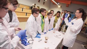 A természettudományos tantárgyakat népszerűsíti a Bayer oktatási programja