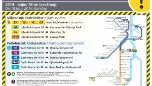 Váltókarbantartás miatt módosul vasárnap a villamosközlekedés